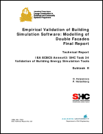 Empirical Validation of Building Simulation Software: Modelling of Double Facades
